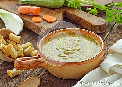 Vegetable soup, setting