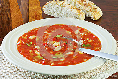 Vegetable Soup with Tomato and White Beans