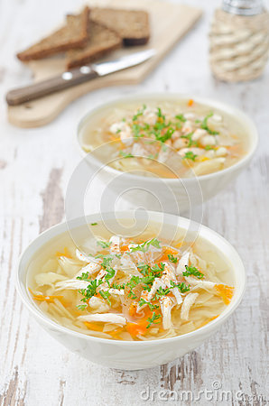 Free Vegetable Soup With Chicken And Parsley Stock Images - 28602844