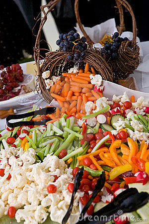 Vegetables at a banquet