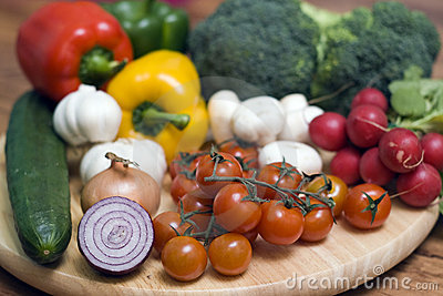 Vegetables on board