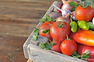 Vegetables in  box