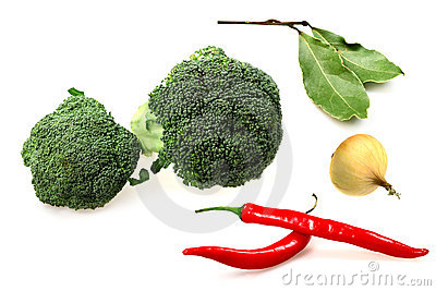 Vegetables broccoli, red pepper