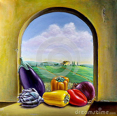 Free Vegetables By The Window Royalty Free Stock Photo - 36615135