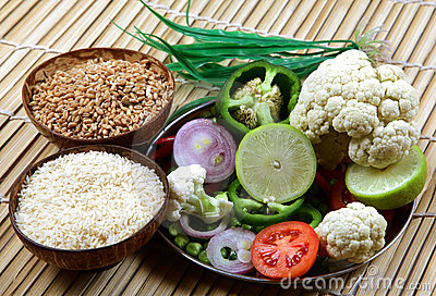 Vegetables and cereals