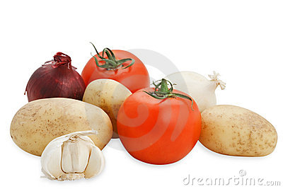 Vegetables composition (with clipping path)