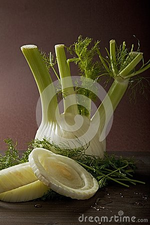 Vegetables, fennel on table