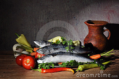 Vegetables and fish