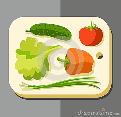 Free Vegetables For Salad, Coloured Picture. Stock Photo - 63883300