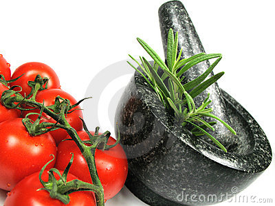 Vegetables and fresh herbs