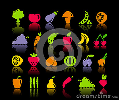 Vegetables and fruit icons
