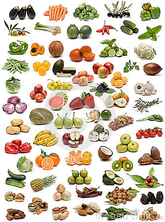 Free Vegetables, Fruits And Nuts. Stock Photo - 13654950