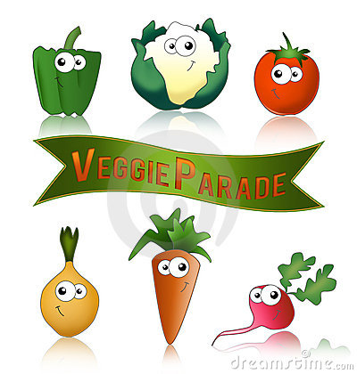 Vegetables funny and healthy