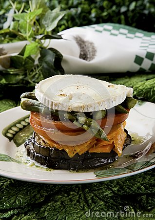 Vegetables with goat cheese