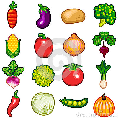 Free Vegetables Icon Set Royalty Free Stock Images - 31420779