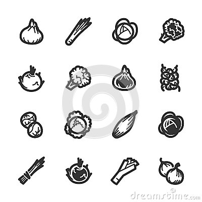 Free Vegetables Icons – Bazza Series Royalty Free Stock Photos - 39176088
