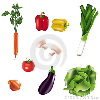 Free Vegetables Isolated Stock Photos - 9889883
