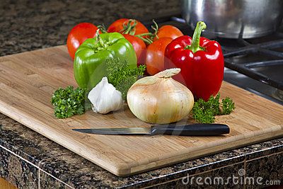 Vegetables in Kitchen