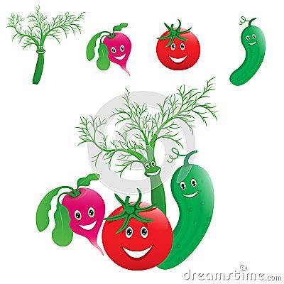 Vegetables laugh