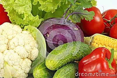 Vegetables macro