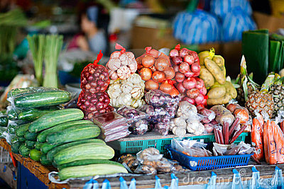 Vegetables on market in Malaysia