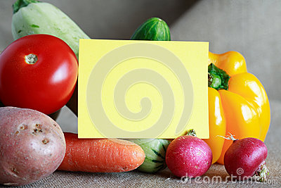 Vegetables Menu