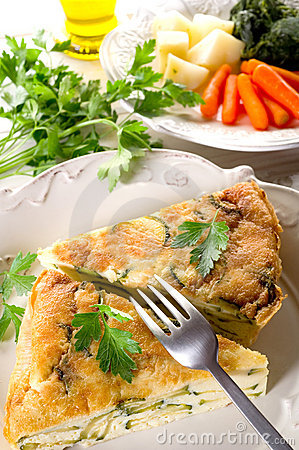 Free Vegetables Omelet Royalty Free Stock Photography - 15193537