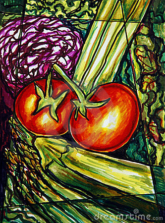 Vegetables painting