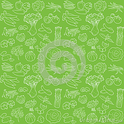 Free Vegetables Pattern Royalty Free Stock Images - 35125219