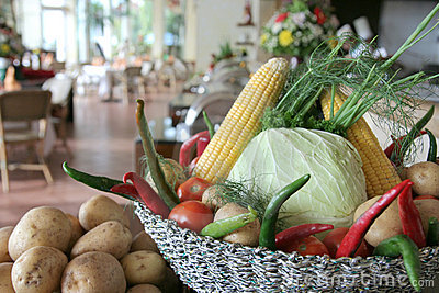 Vegetables at restaurant