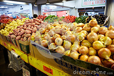 Vegetables for sale on local market Editorial Photo