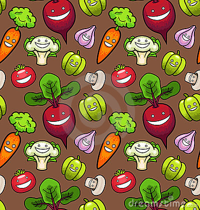 Vegetables. Seamless Pattern