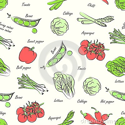 Vegetables seamless