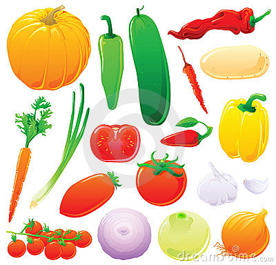 Free Vegetables Set Stock Photography - 6821242