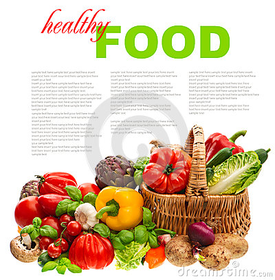 Free Vegetables. Shopping Basket. Healthy Nutrition Royalty Free Stock Images - 39263019
