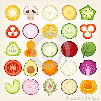 Free Vegetables Sliced In Half. Royalty Free Stock Photography - 97944427