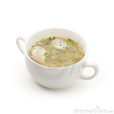 Vegetables Soup with Chicken