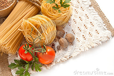 A Vegetables, Spices And Pasta Stock Image - Image: 21973391