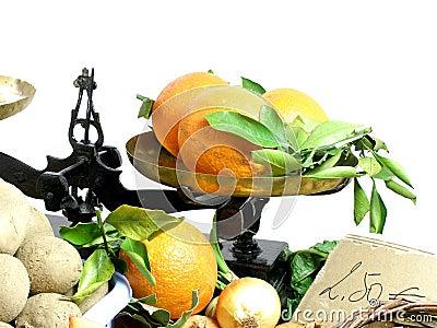 Vegetables stalk at the market