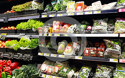 Vegetables at the supermarket Editorial Photography
