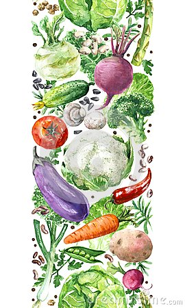 Free Vegetables Vertical Seamless Pattern Royalty Free Stock Photos - 114299568