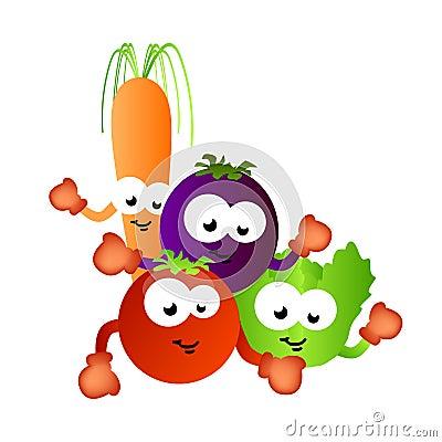 Vegetais saudáveis do alimento para miúdos