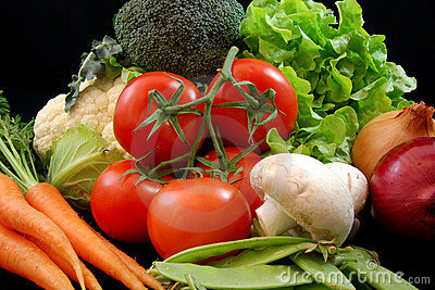 Vegetais saudáveis frescos