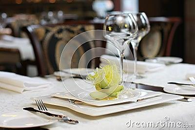 Vegetarian creative food in luxurious restaurant