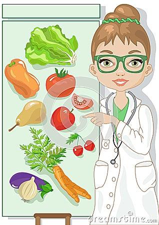 Vegetarian Diet Stock Vector - Image: 39673273