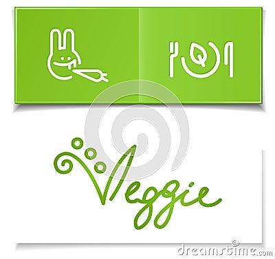 Vegetarian diet symbols