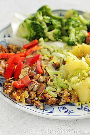 Vegetarian Dish Royalty Free Stock Image - Image: 8659866