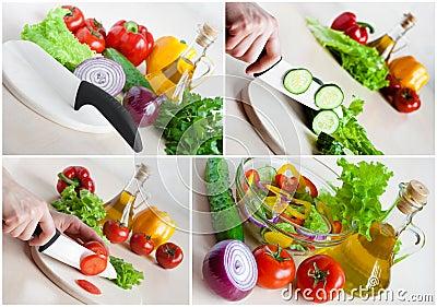 Vegetarian food collage
