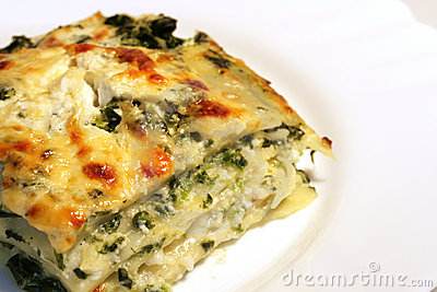 Vegetarian lasagne with ricott