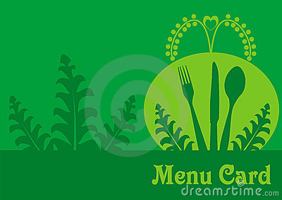 Vegetarian menu card design